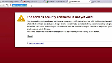 How to Fix Servers Security Certificate not valid